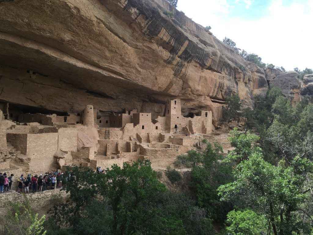 Rocky side view of Cliff Palace in Colorado